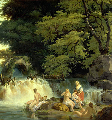 River Nymph Painting - The Salmon Leap, Leixlip The Salmon Leap At Leixlip by Litz Collection