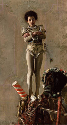 The Saltimbanco Art Print by Antonio Mancini