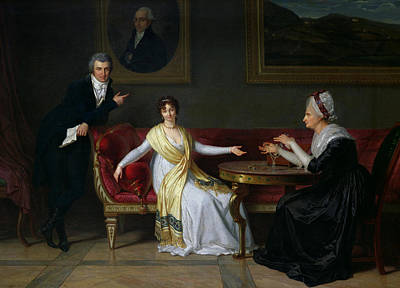 Shawl Painting - The Salucci Family by Louis Gauffier