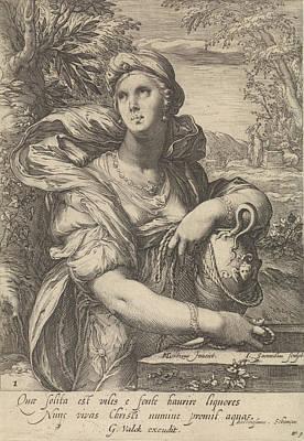 The Samaritan Woman, Jan Saenredam, Balthasarus Schonaeus Print by Jan Saenredam And Balthasarus Schonaeus And Gerard Valck