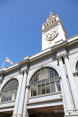 The San Francisco Ferry Building 5d25385 Art Print by Wingsdomain Art and Photography