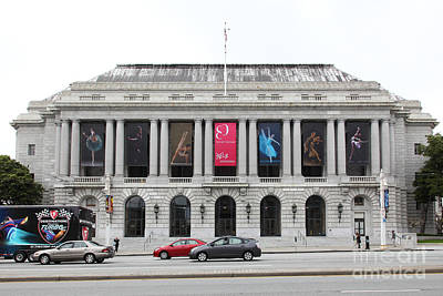 The San Francisco War Memorial Opera House - San Francisco Ballet 5d22478 Art Print