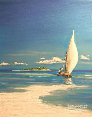Painting - The Sand Bar by The Beach  Dreamer