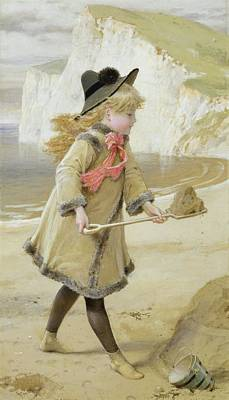Sandcastles Painting - The Sand Castle by William Stephen Coleman