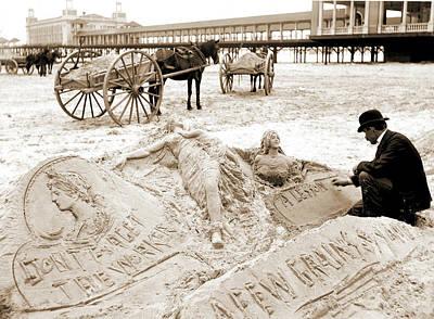 The Sandman, Atlantic City Art Print by Litz Collection