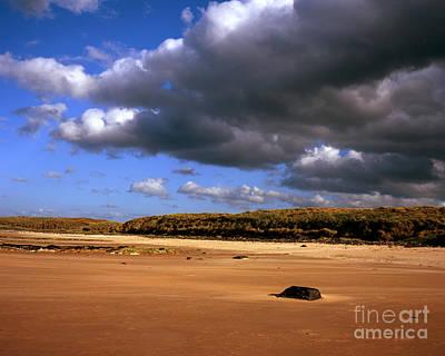 The Sandy  Beach At Embleton Bay   Embleton Northumberland England Art Print