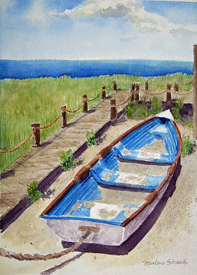 Painting - The Sandy Boat by Marlene Schwartz Massey