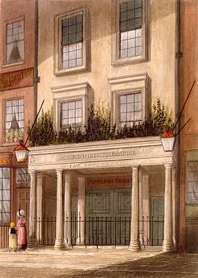 West Drawing - The Sans Pareil Theatre, 1826 by Daniel Havell