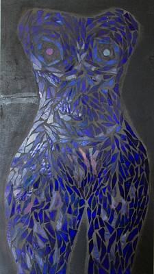 The Sapphire Woman Art Print by Alison Edwards