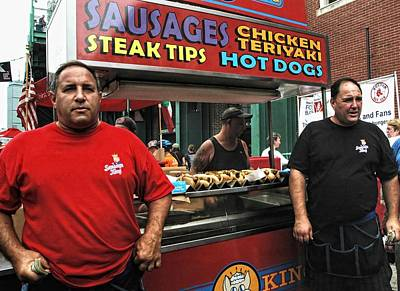 Fenway Park Photograph - The Sausage Kings - Boston by Joann Vitali