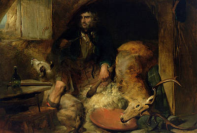 Axes Painting - The Savage by Sir Edwin Landseer
