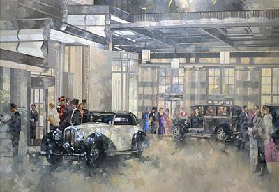 Car Painting - The Savoy  by Peter Miller
