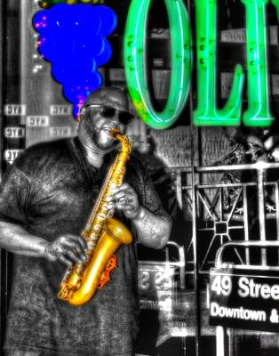 Photograph - The Saxman 012 by Jeff Stallard