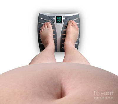 Scale Photograph - The Scale Says Series Fat Ass by Amy Cicconi