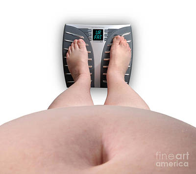 Bellybutton Photograph - The Scale Says Series Ur Fat by Amy Cicconi