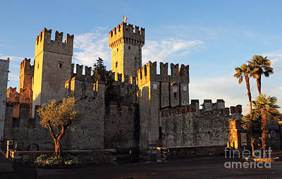 The Scaliger Castle In Sirmione Print by Kiril Stanchev