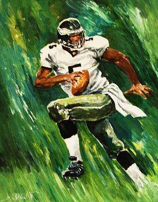 Painting - The Scambling Quarterback by Al Brown