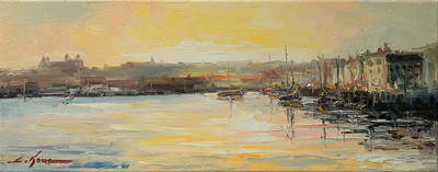 The Scarborough Harbour Art Print