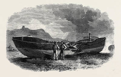 Storm Drawing - The Scarborough Life Boat After The Storm by English School
