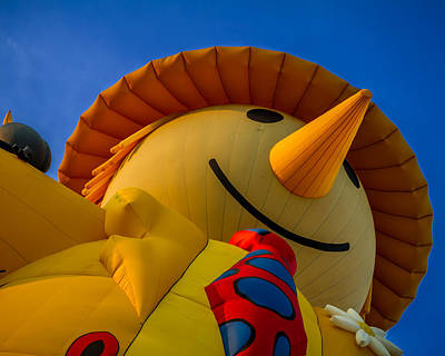 Photograph - Smiley Scarecrow Balloon - Hot Air Balloon by Ron Pate