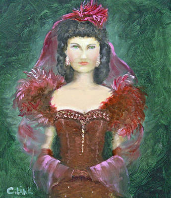 Painting - The Scarlet Dress by Catherine Link
