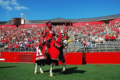 Photograph - The Scarlet Knight And His Noble Steed by Allen Beatty