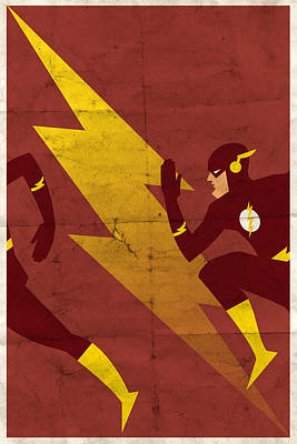 The Scarlet Speedster Art Print by Michael Myers