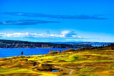 Us Open Photograph - The Scenic Chambers Bay Golf Course Iv - Location Of The 2015 U.s. Open Tournament by David Patterson