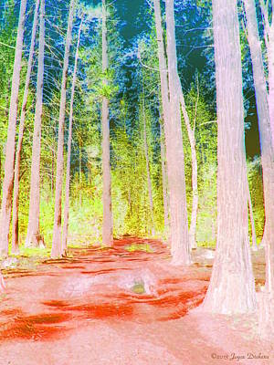 Friendly Digital Art - The Scenic Route In Fall by Joyce Dickens