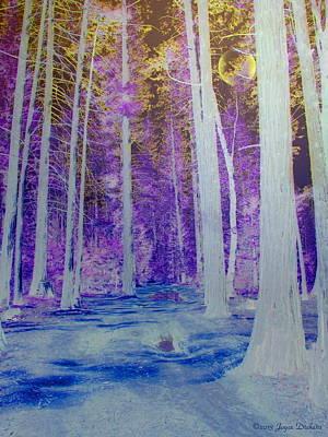 Friendly Digital Art - The Scenic Route In Moonlight by Joyce Dickens