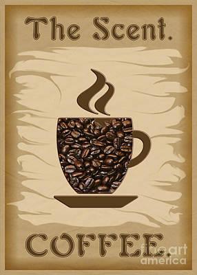 Digital Art - The Scent - Coffee by Gabriele Pomykaj