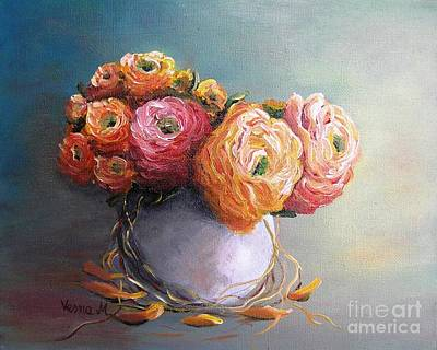Art Print featuring the painting The Scent Of Flowers by Vesna Martinjak