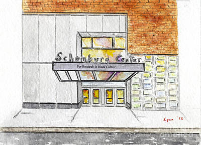 Painting - The Schomburg by AFineLyne