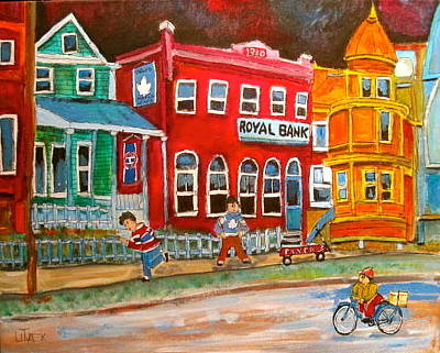 Flyers Hockey Painting - The School Bell by Michael Litvack