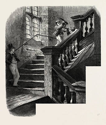 The School Staircase, Eton, Uk Art Print by English School
