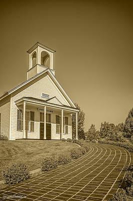 Little Red School House Photograph - The Schoolhouse Hdr by LeeAnn McLaneGoetz McLaneGoetzStudioLLCcom