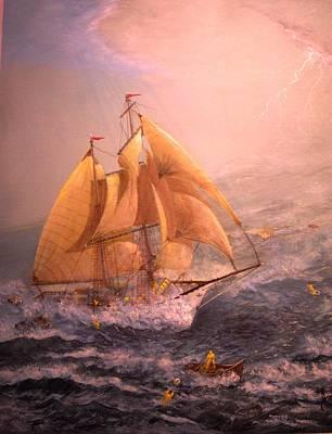 The 96' Schooner Lexington  Original by Joseph Boysko