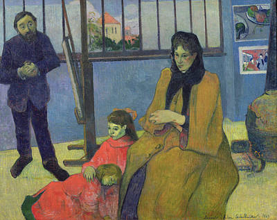Impressionist Photograph - The Schuffenecker Family, Or Schuffeneckers Studio, 1889 Oil On Canvas by Paul Gauguin