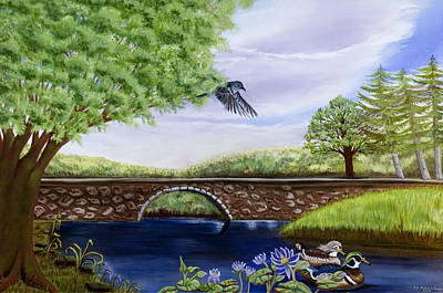 Art Print featuring the painting The Schuykill River by Susan Culver