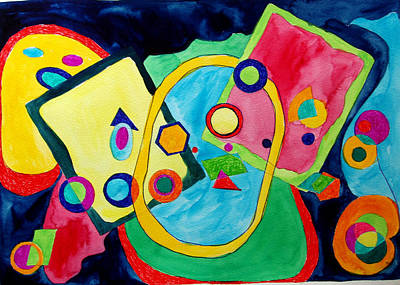 Art Print featuring the painting The Science Of Shapes 2 by Esther Newman-Cohen