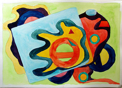 Art Print featuring the painting The Science Of Shapes 3 by Esther Newman-Cohen