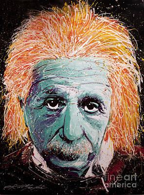 Albert Einstein Painting - The Scientist by Chris Mackie