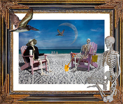 Physiology Digital Art - The Scientist's Vacation by Betsy Knapp