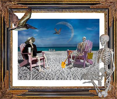 Shore Digital Art - The Scientist's Vacation by Betsy Knapp