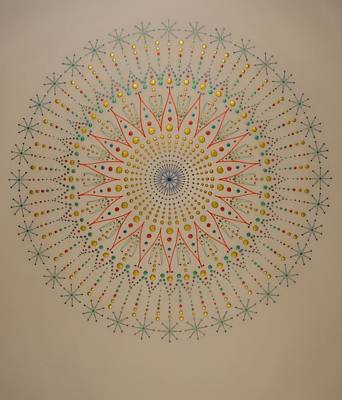 Fractal Geometry Drawing - The Scintillation Of Sound Healing by Mark Golding