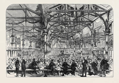 The Scott Centenary Banquet In The Corn Exchange Art Print