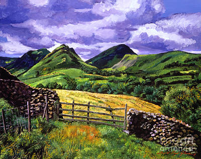 Heath Painting - The Scottish Highlands by David Lloyd Glover