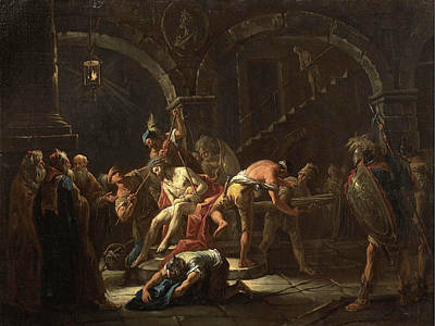 Painting - The Scourging Of Christ by Gaspare Diziani