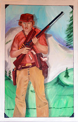 Painting - The Scout Portrait Of The Artist At Age 24 by Kevin Callahan