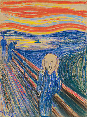 Crying Painting - The Scream by Edvard Munch